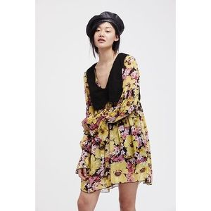 Free People Alice Vested Floral Dress